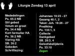 liturgie zondag 13 april20
