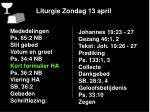 liturgie zondag 13 april5
