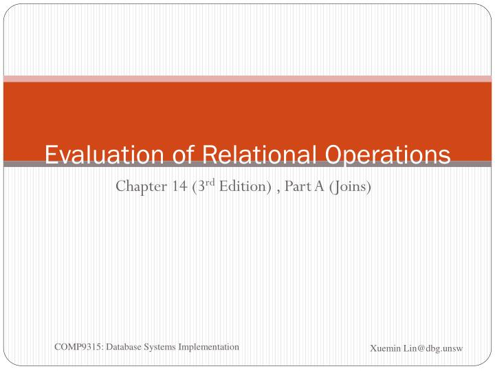 evaluation of relational operations n.