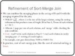 refinement of sort merge join