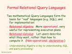 formal relational query languages