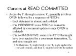cursors at read committed