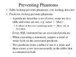 preventing phantoms