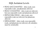 sql isolation levels