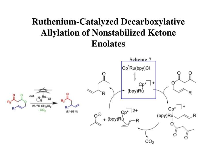ruthenium catalyzed decarboxylative allylation of nonstabilized ketone enolates n.