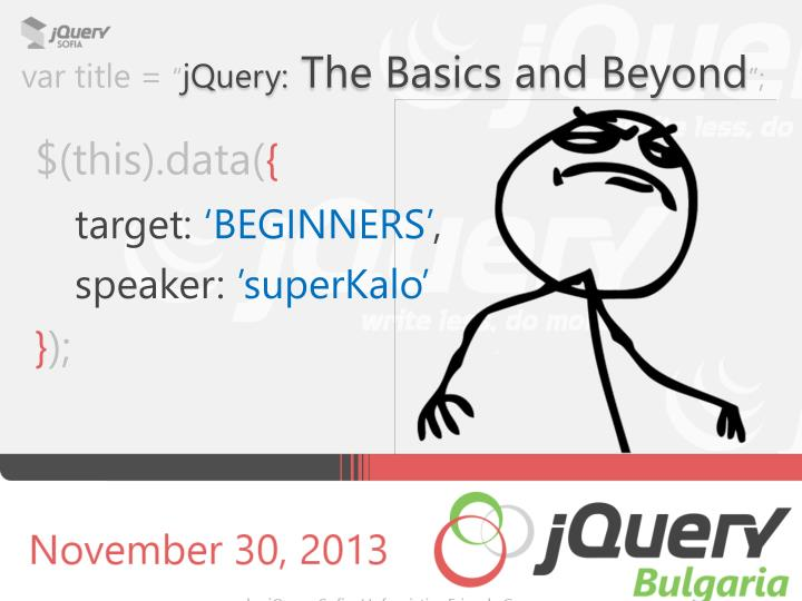 var title jquery the basics and beyond n.