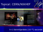 topical cern nikhef13