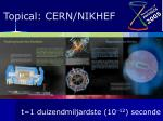 topical cern nikhef14