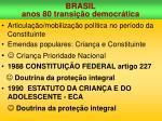 brasil anos 80 transi o democr tica