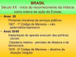 brasil s culo xx in cio do reconhecimento da inf ncia como esfera de a o do estado