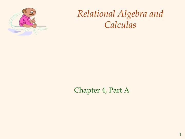 relational algebra and calculas n.