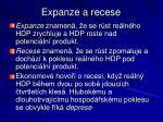 expanze a recese