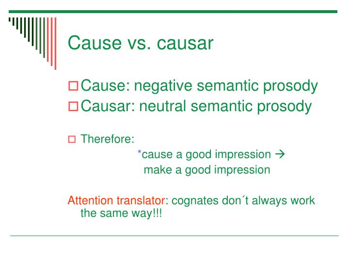 Cause vs. causar