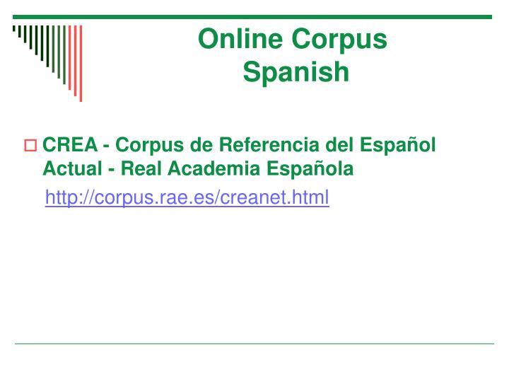 Online Corpus