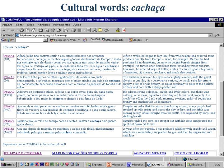 Cultural words: