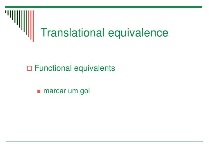 Translational equivalence