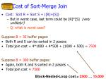 cost of sort merge join