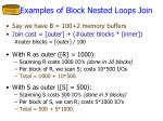 examples of block nested loops join