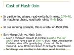 cost of hash join