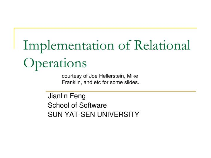 implementation of relational operations n.