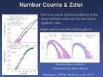 number counts zdist