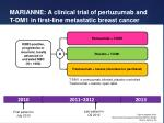 marianne a clinical trial of pertuzumab and t dm1 in first line metastatic breast cancer