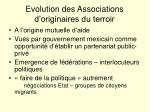 evolution des associations d originaires du terroir