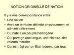 notion originelle de nation
