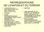 representations de la nation et du terroir