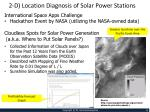2 d location diagnosis of solar power stations