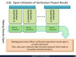 3 b open utilization of verification project results