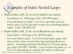 examples of index nested loops