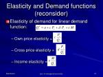 elasticity and demand functions reconsider