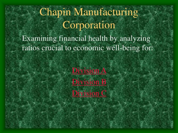 chapin manufacturing corporation n.