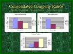 consolidated company ratios days sales outstanding inventory turnover debt to equity ratio