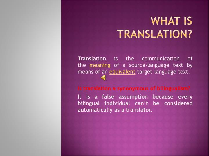 what is translation n.