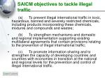 saicm objectives to tackle illegal traffic