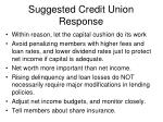 suggested credit union response