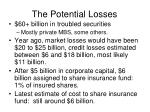 the potential losses