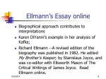 ellmann s essay online