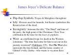 james joyce s delicate balance