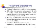 recurrent explorations