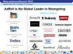 adroll is the global leader in retargeting