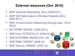 external resources oct 2010