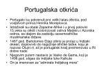 portugalska otkri a
