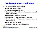 implementation road maps
