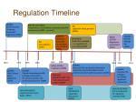 regulation timeline