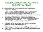 koncepcji programu adaptacji do pracy w firmie4