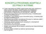 koncepcji programu adaptacji do pracy w firmie5