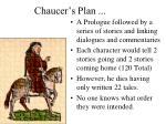 chaucer s plan
